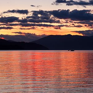 Sunset over Lake Pend Oreille