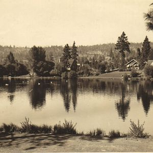 Circa 1940 Mirror pond, Bend Or.