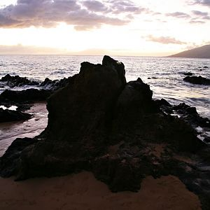 Sunset on the Beach in Maui-1