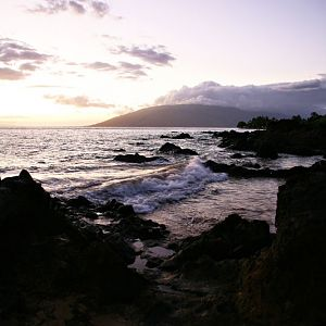 Sunset on the Beach in Maui-2