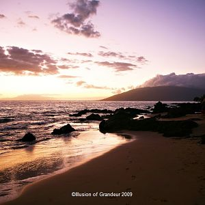 Sunset on the Beach in Maui-3