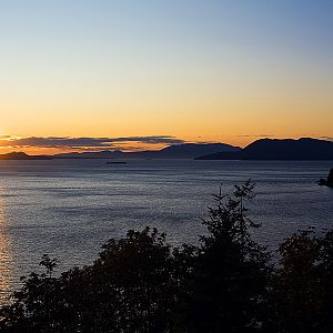 Sunset over Samish Bay