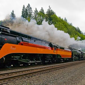 SP 4449 leads UP 844 Excursion