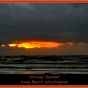 Washington's Pacific Coast Stormy Sunset