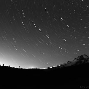 Star Trails Over Mt Hood,Oregon