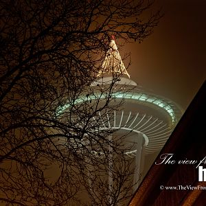 Foggy Christmas at the Space Needle