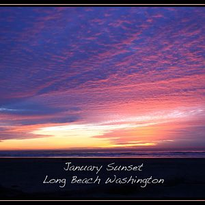 Sunset Long Beach WA 1/12/12