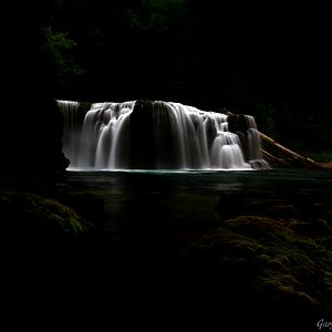 Lower Lewis River Falls ~ The Dark Side ~