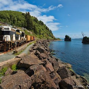 Oregon Coast Scenic Railroad work train