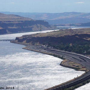Wishram Yard and the Columbia River